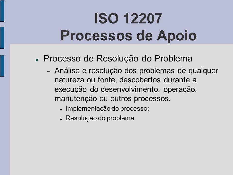 ISO 12207 Processos de Apoio Processo de Resolução do Problema