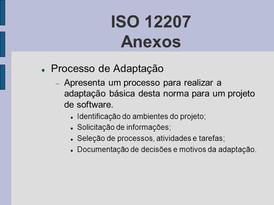 ISO 12207 Anexos Processo de Adaptação