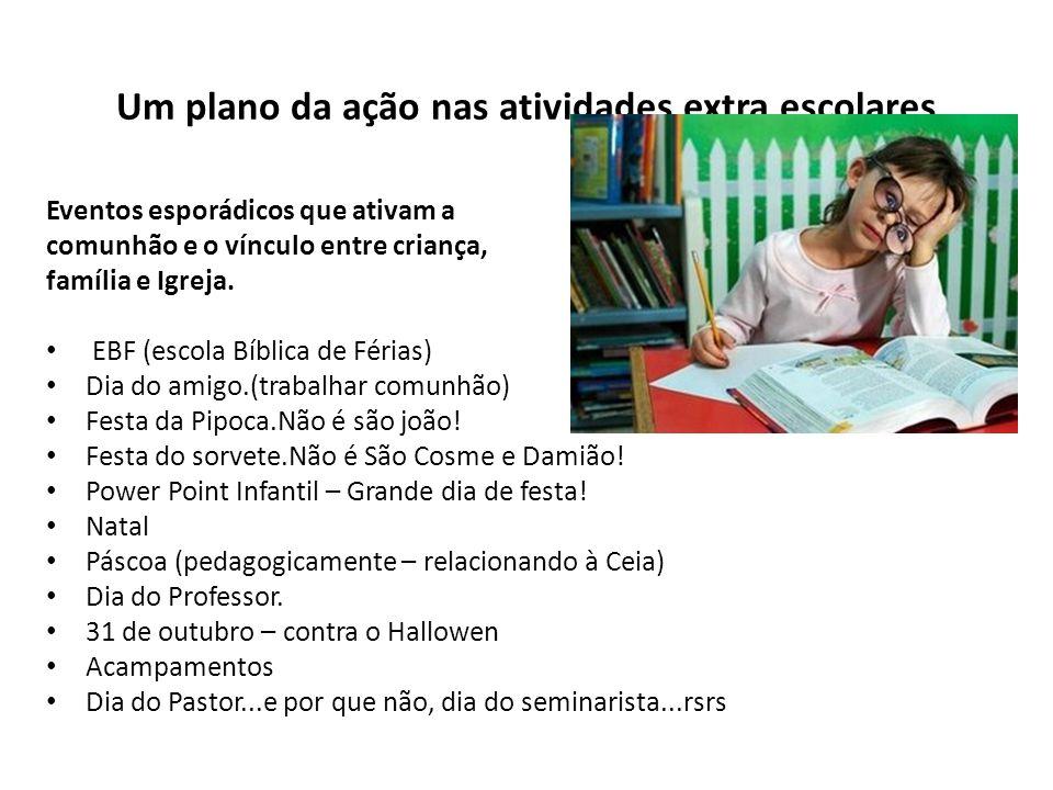 Um plano da ação nas atividades extra escolares