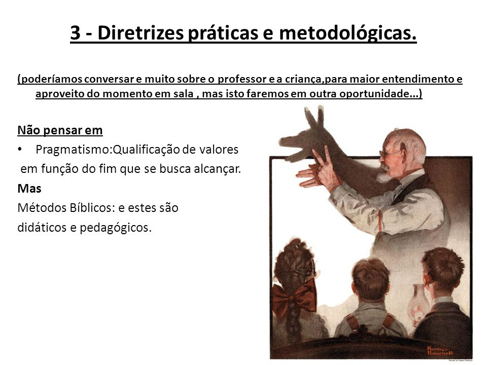 3 - Diretrizes práticas e metodológicas.