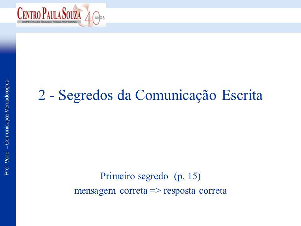 2 - Segredos da Comunicação Escrita