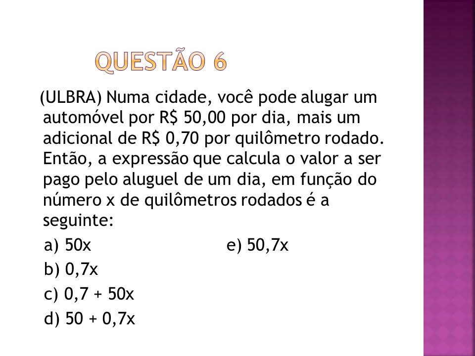 QUESTÃO 6