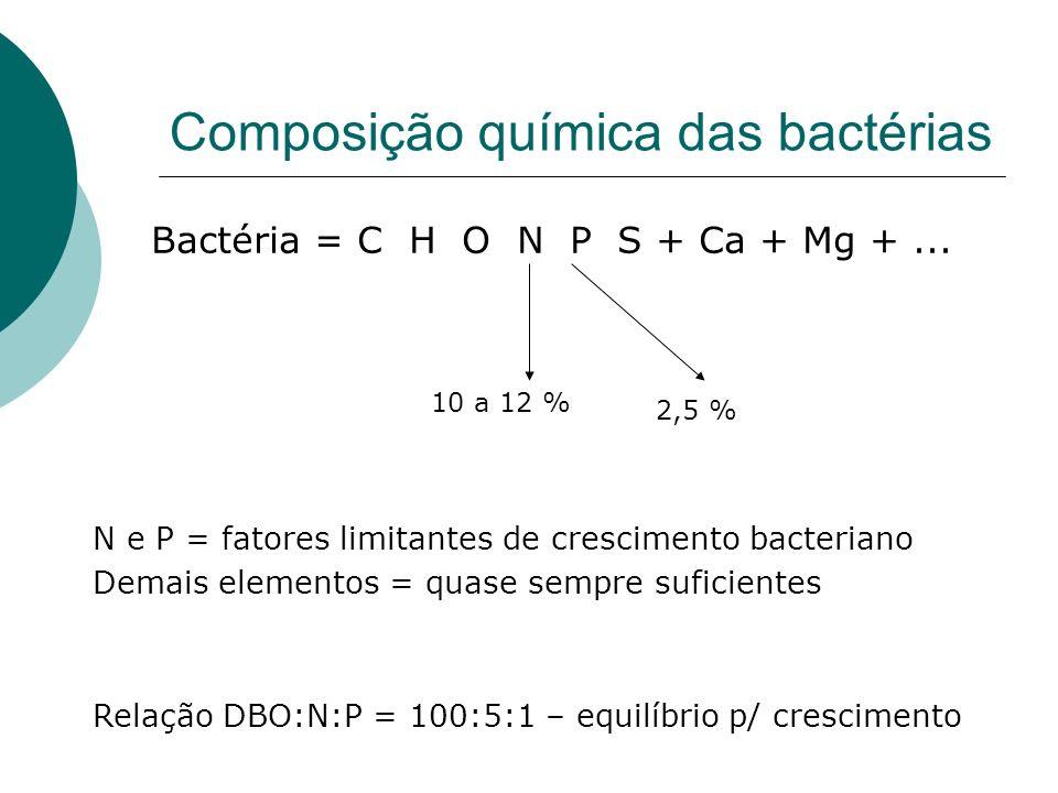 Composição química das bactérias