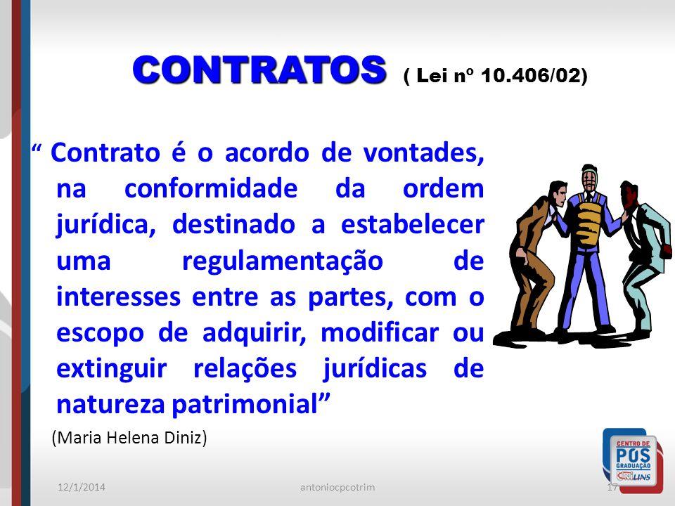 CONTRATOS ( Lei nº 10.406/02)