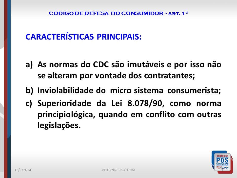 CÓDIGO DE DEFESA DO CONSUMIDOR - art. 1º