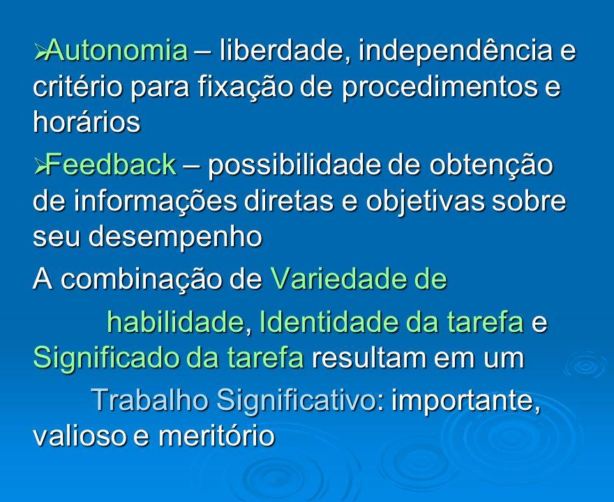Autonomia – liberdade, independência e critério para fixação de procedimentos e horários