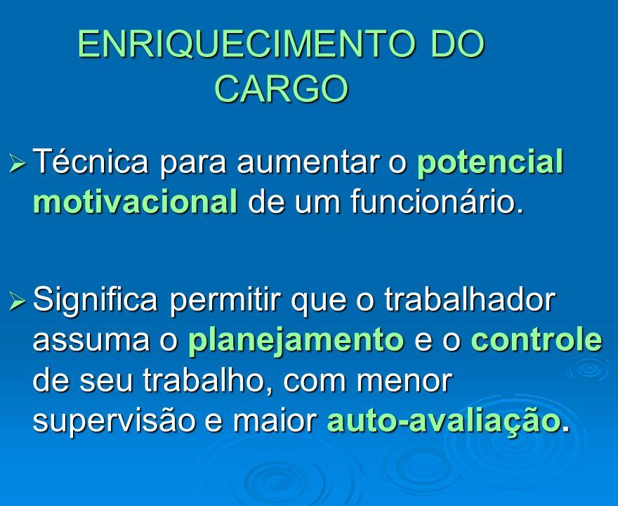 ENRIQUECIMENTO DO CARGO