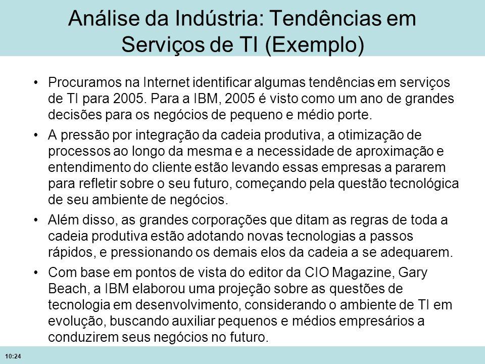 Análise da Indústria: Tendências em Serviços de TI (Exemplo)