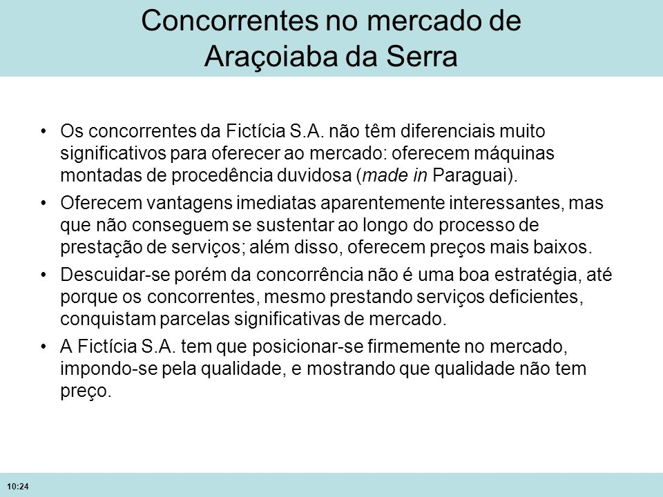 Concorrentes no mercado de Araçoiaba da Serra