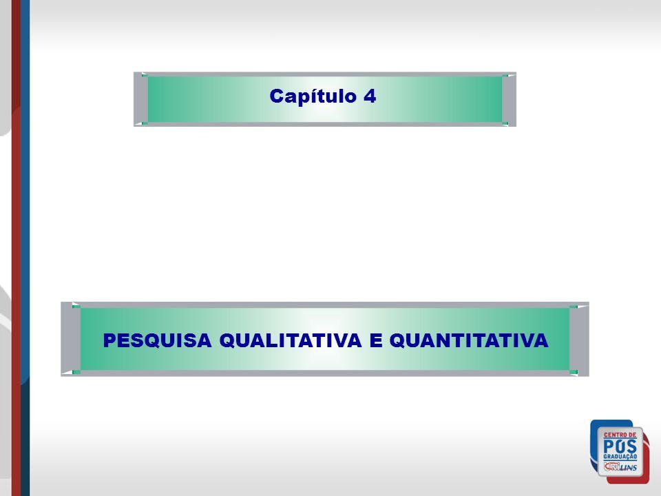 Capítulo 4 PESQUISA QUALITATIVA E QUANTITATIVA