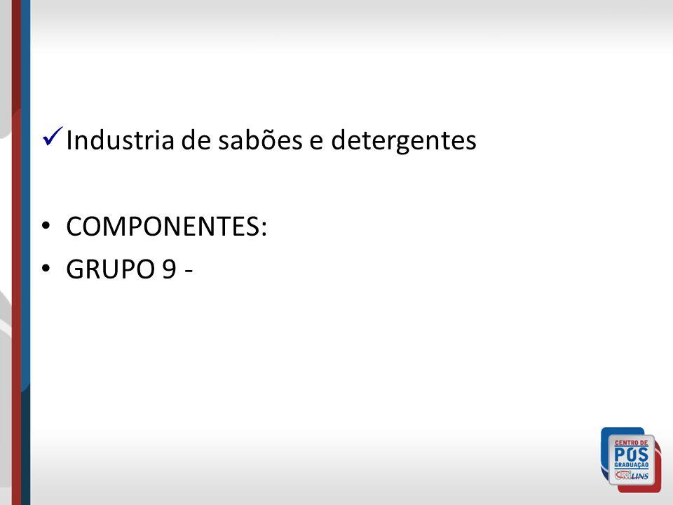 Industria de sabões e detergentes