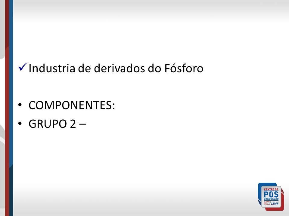 Industria de derivados do Fósforo