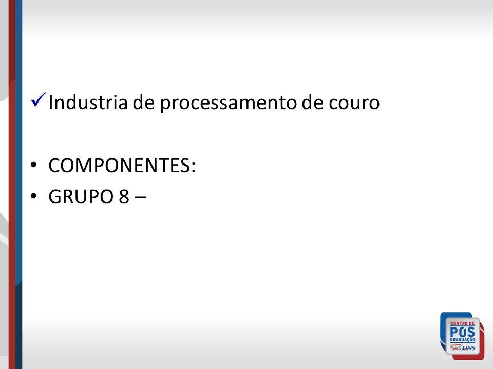 Industria de processamento de couro