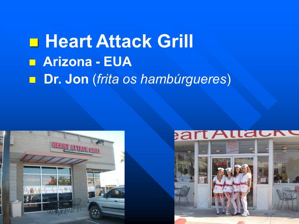 Heart Attack Grill Arizona - EUA Dr. Jon (frita os hambúrgueres)