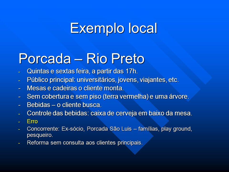 Exemplo local Porcada – Rio Preto