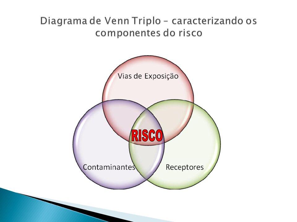 Diagrama de Venn Triplo – caracterizando os componentes do risco