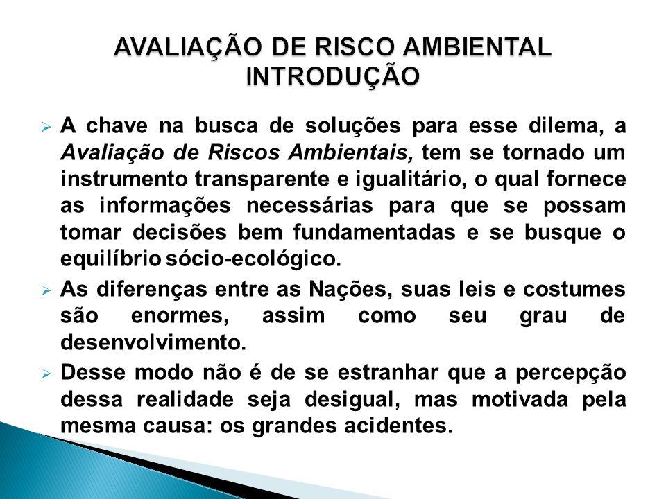 AVALIAÇÃO DE RISCO AMBIENTAL INTRODUÇÃO