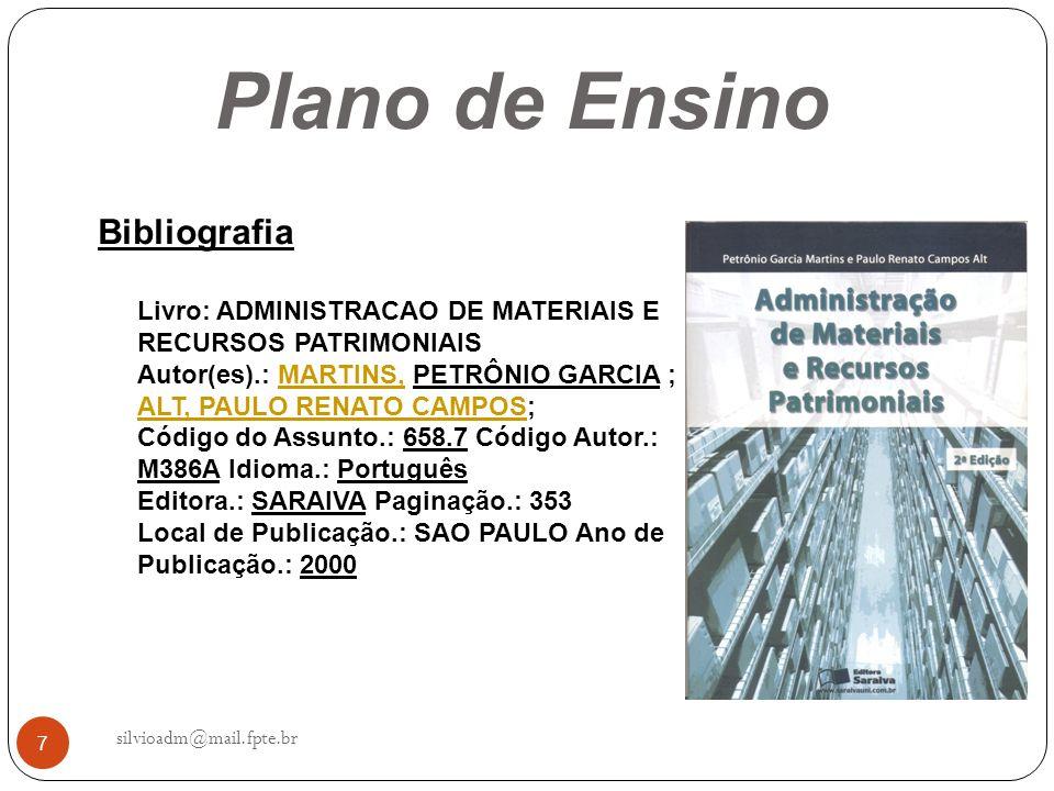 Plano de Ensino Bibliografia
