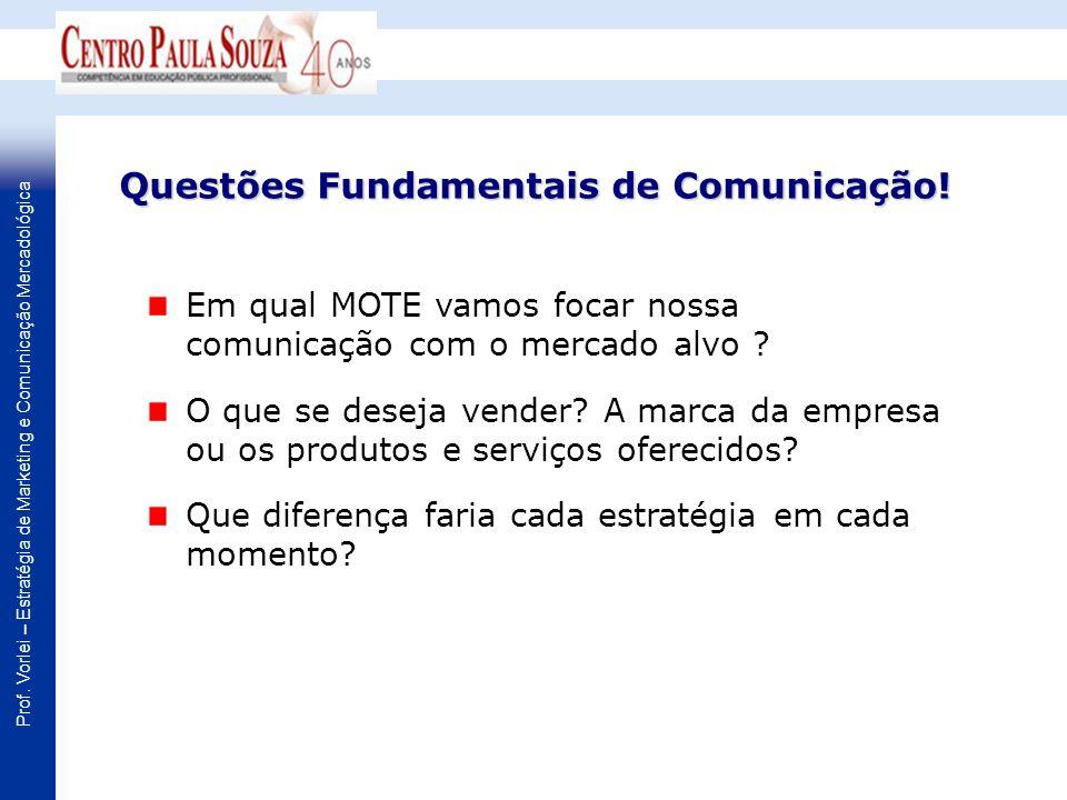 Questões Fundamentais de Comunicação!
