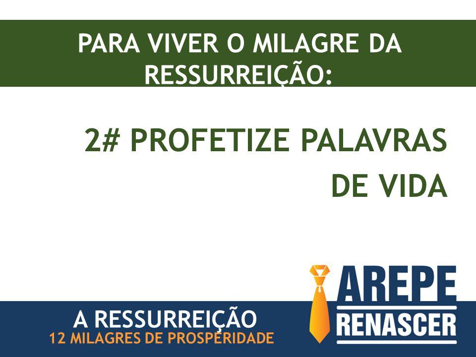 PARA VIVER O MILAGRE DA RESSURREIÇÃO: