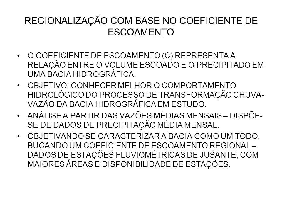 REGIONALIZAÇÃO COM BASE NO COEFICIENTE DE ESCOAMENTO