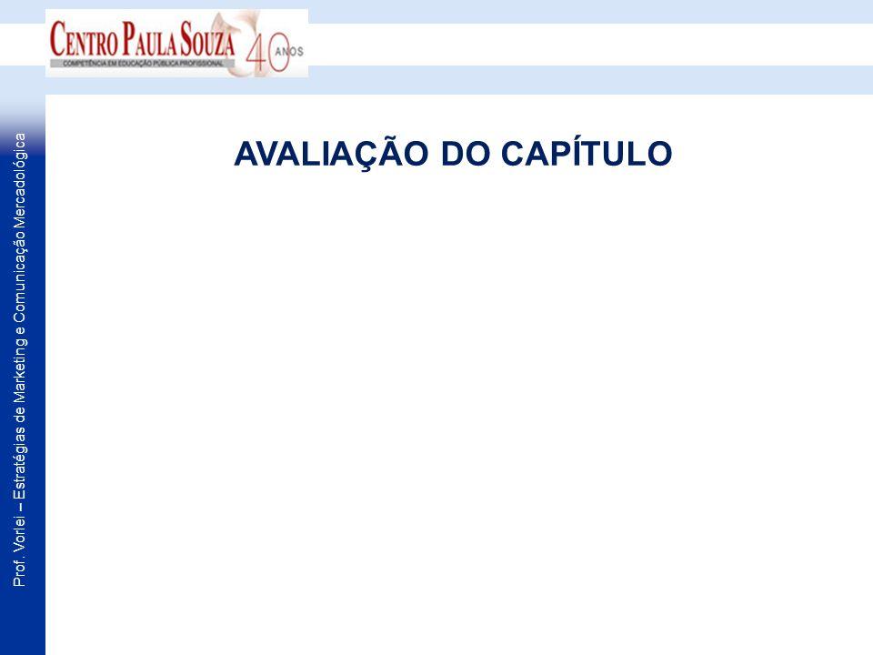 AVALIAÇÃO DO CAPÍTULO