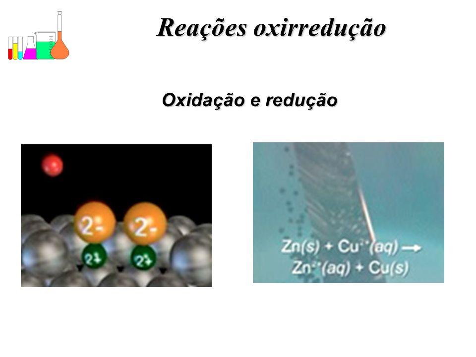 Reações oxirredução Oxidação e redução