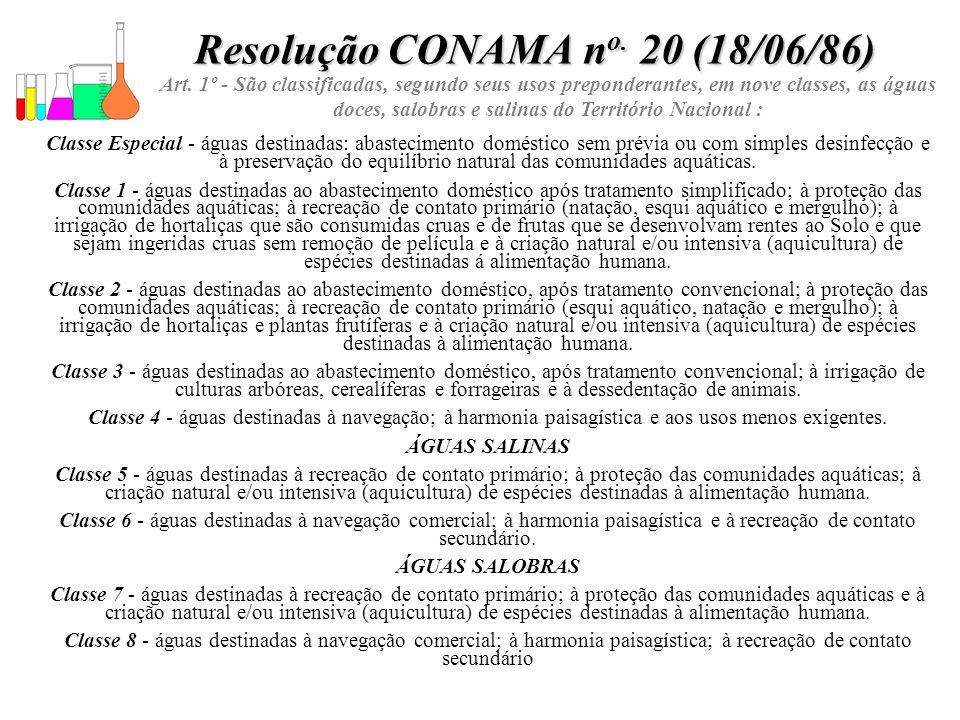 Resolução CONAMA no. 20 (18/06/86)