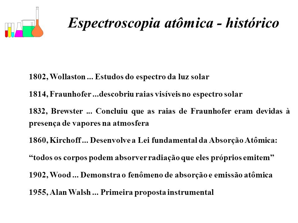 Espectroscopia atômica - histórico