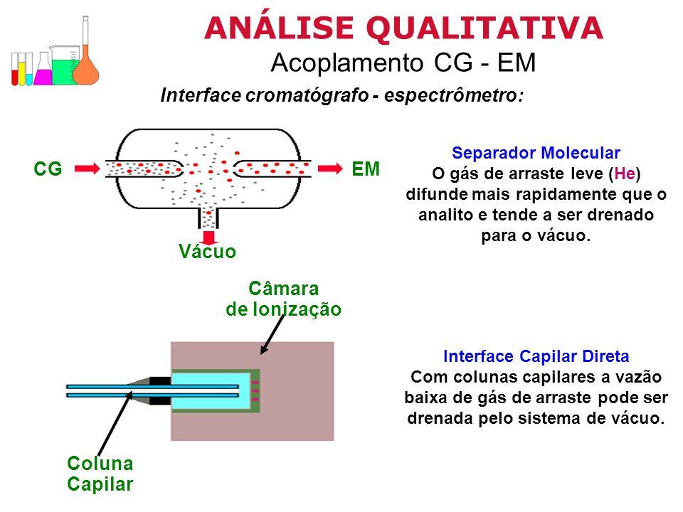 Interface cromatógrafo - espectrômetro: