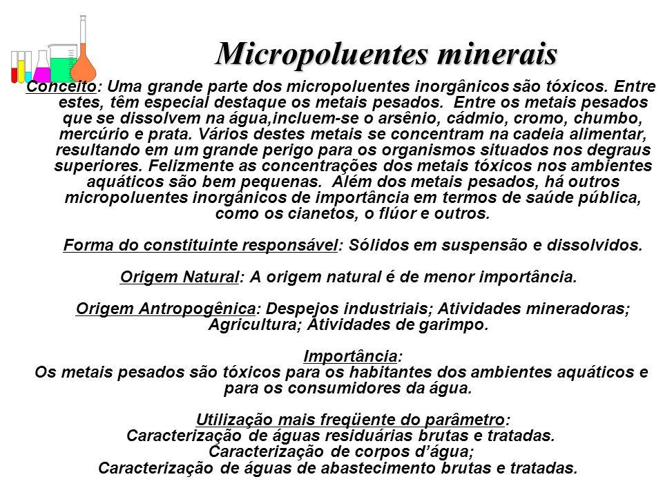 Micropoluentes minerais