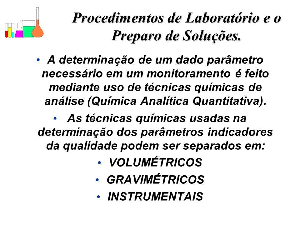 Procedimentos de Laboratório e o Preparo de Soluções.