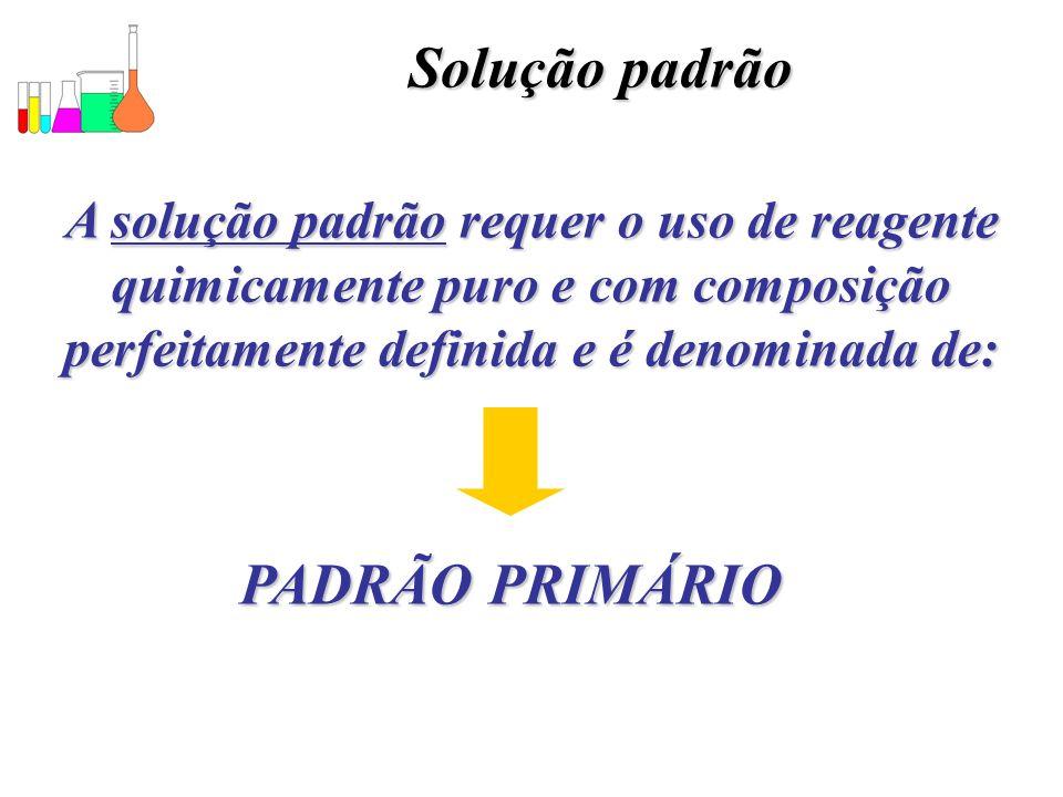 Solução padrão PADRÃO PRIMÁRIO