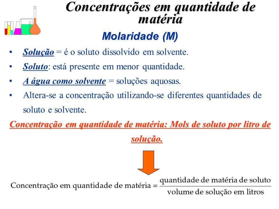 Concentrações em quantidade de matéria