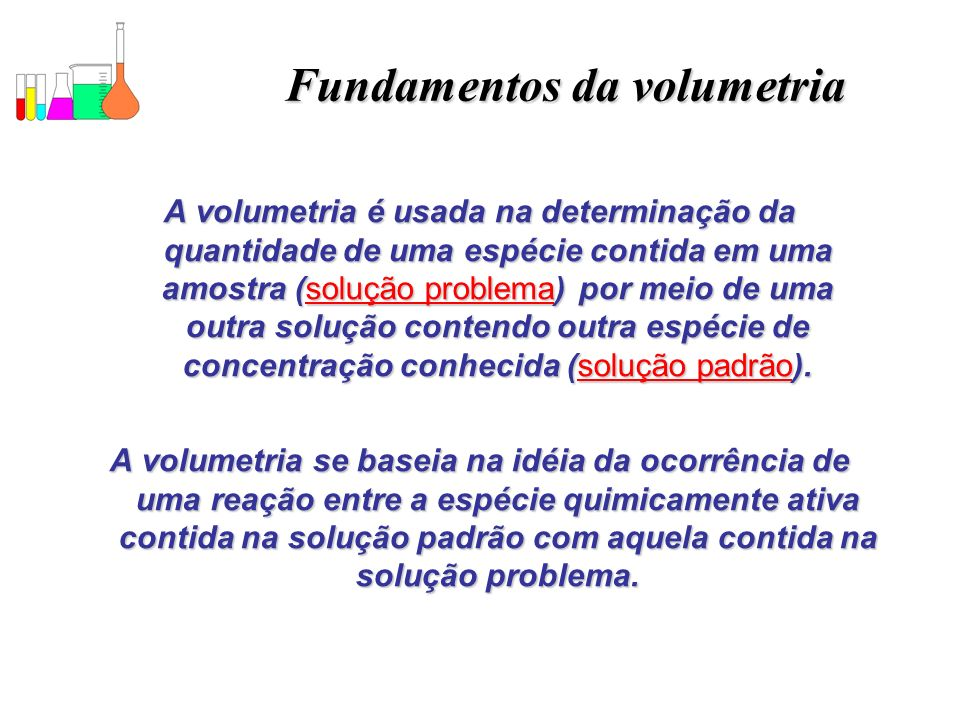 Fundamentos da volumetria