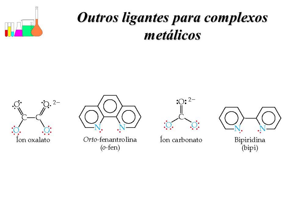 Outros ligantes para complexos metálicos