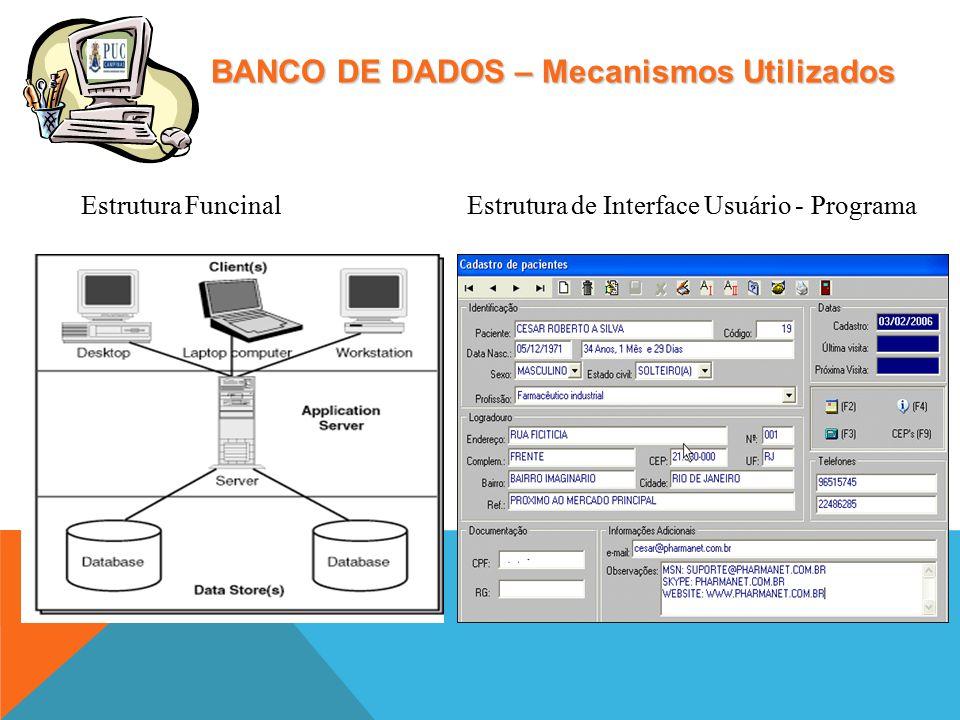 BANCO DE DADOS – Mecanismos Utilizados