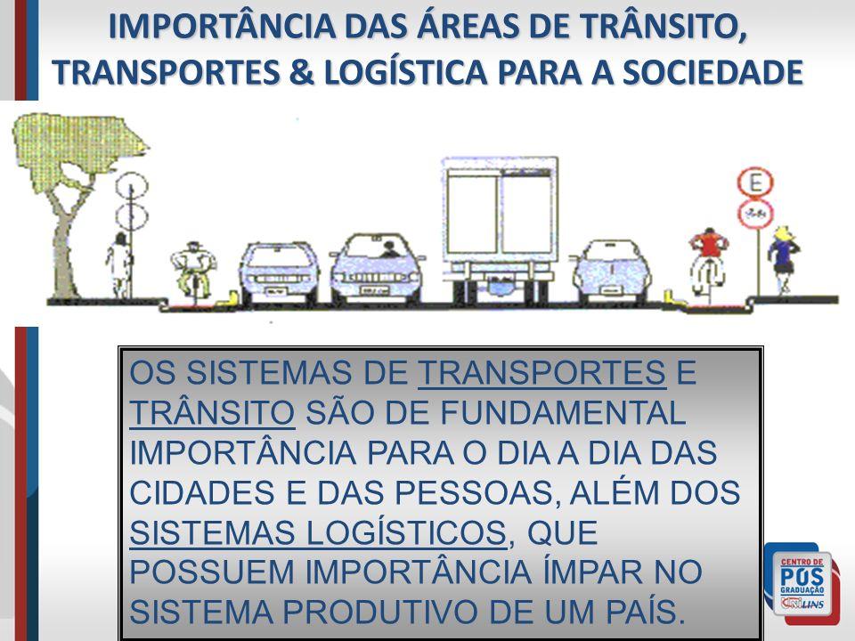 IMPORTÂNCIA DAS ÁREAS DE TRÂNSITO, TRANSPORTES & LOGÍSTICA PARA A SOCIEDADE