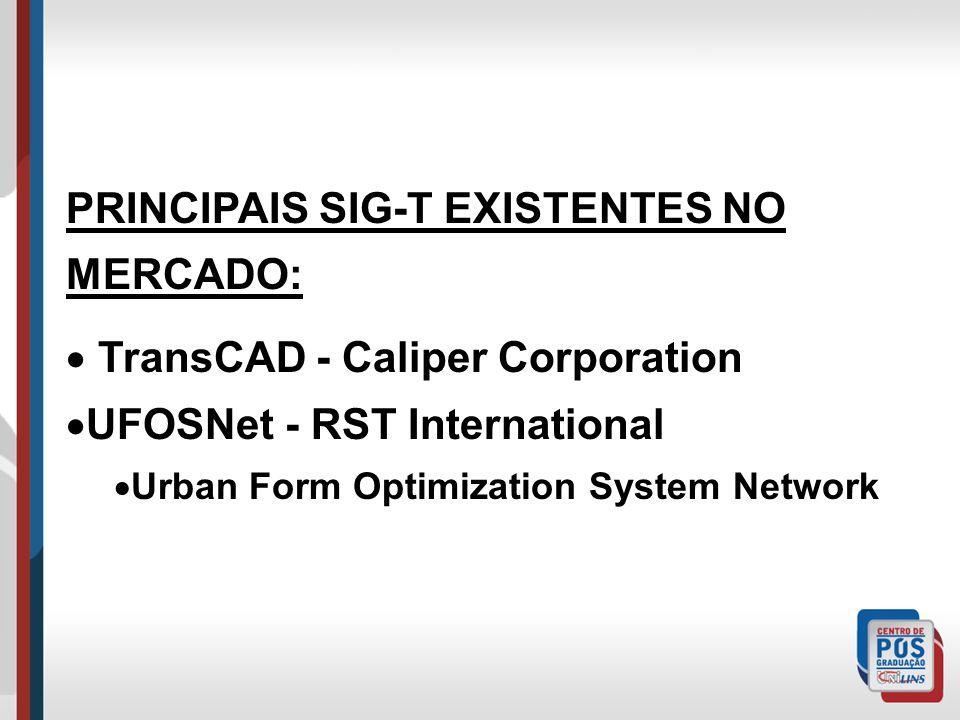 PRINCIPAIS SIG-T EXISTENTES NO MERCADO:
