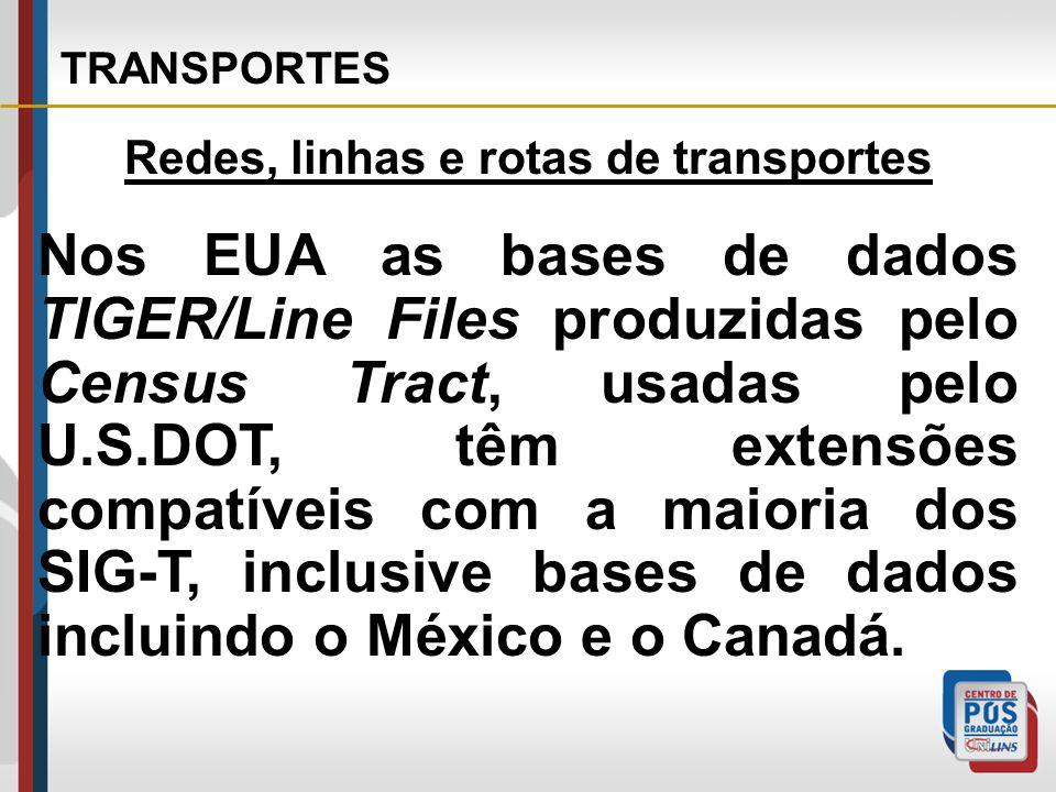 Redes, linhas e rotas de transportes