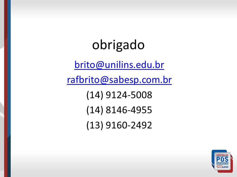 obrigado brito@unilins.edu.br rafbrito@sabesp.com.br (14) 9124-5008