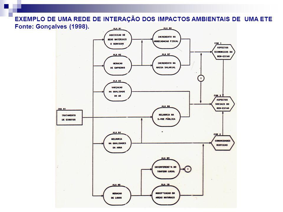 EXEMPLO DE UMA REDE DE INTERAÇÃO DOS IMPACTOS AMBIENTAIS DE UMA ETE