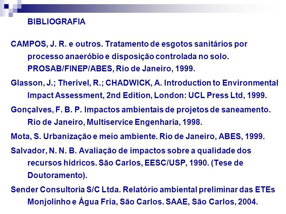Mota, S. Urbanização e meio ambiente. Rio de Janeiro, ABES, 1999.
