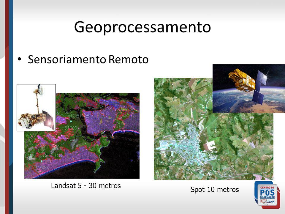 Geoprocessamento Sensoriamento Remoto Landsat 5 - 30 metros