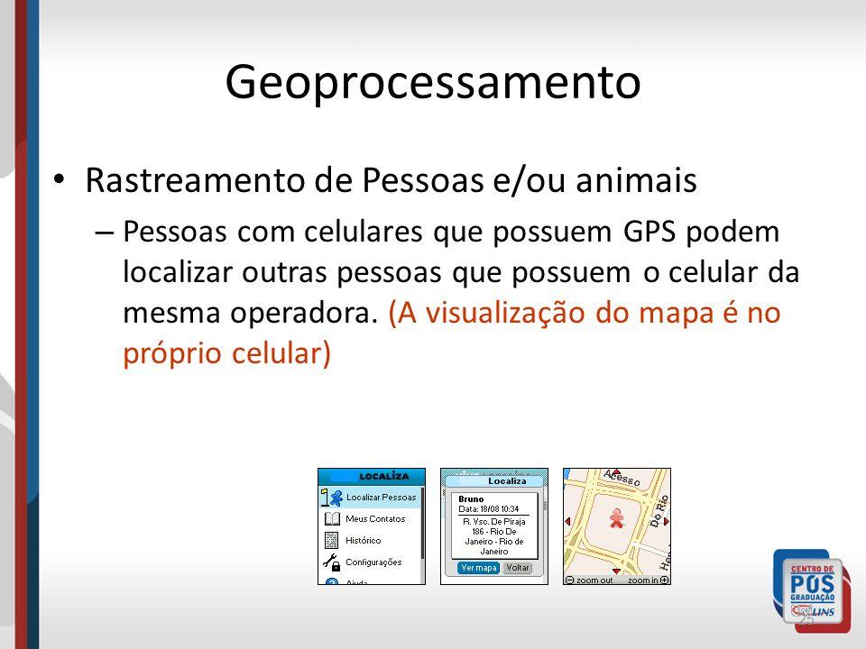 Geoprocessamento Rastreamento de Pessoas e/ou animais