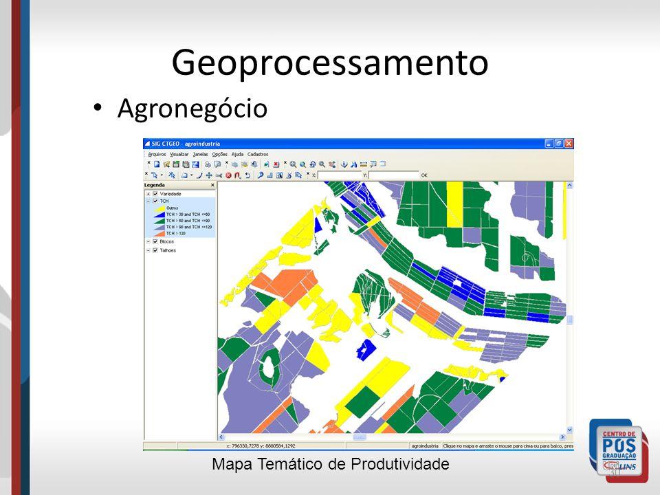 Geoprocessamento Agronegócio Mapa Temático de Produtividade