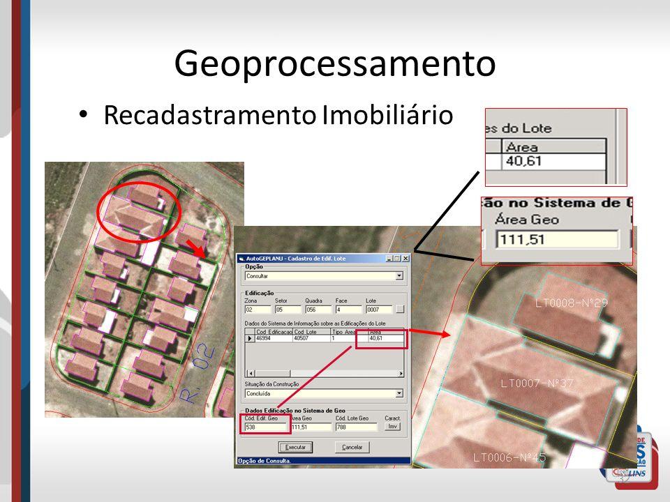 Geoprocessamento Recadastramento Imobiliário