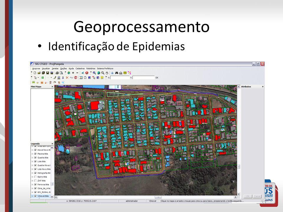 Geoprocessamento Identificação de Epidemias
