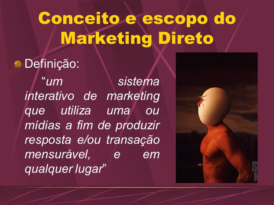 Conceito e escopo do Marketing Direto