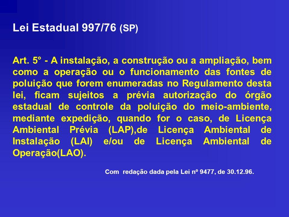 Lei Estadual 997/76 (SP)